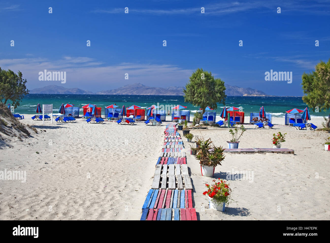 Greece, island Fondling, beach Marmari, Stock Photo