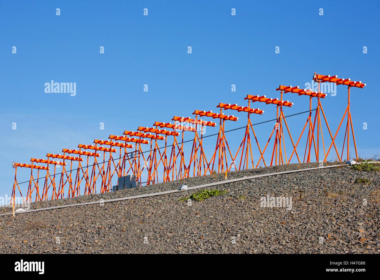 Instrument landing system antenna. - Stock Image
