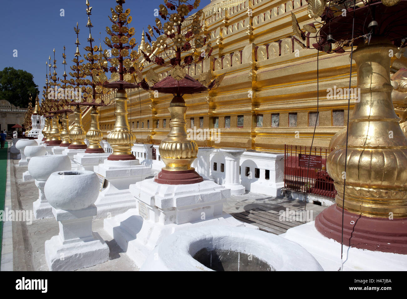 Myanmar, Bagan, Shwezigon pagoda, Stock Photo