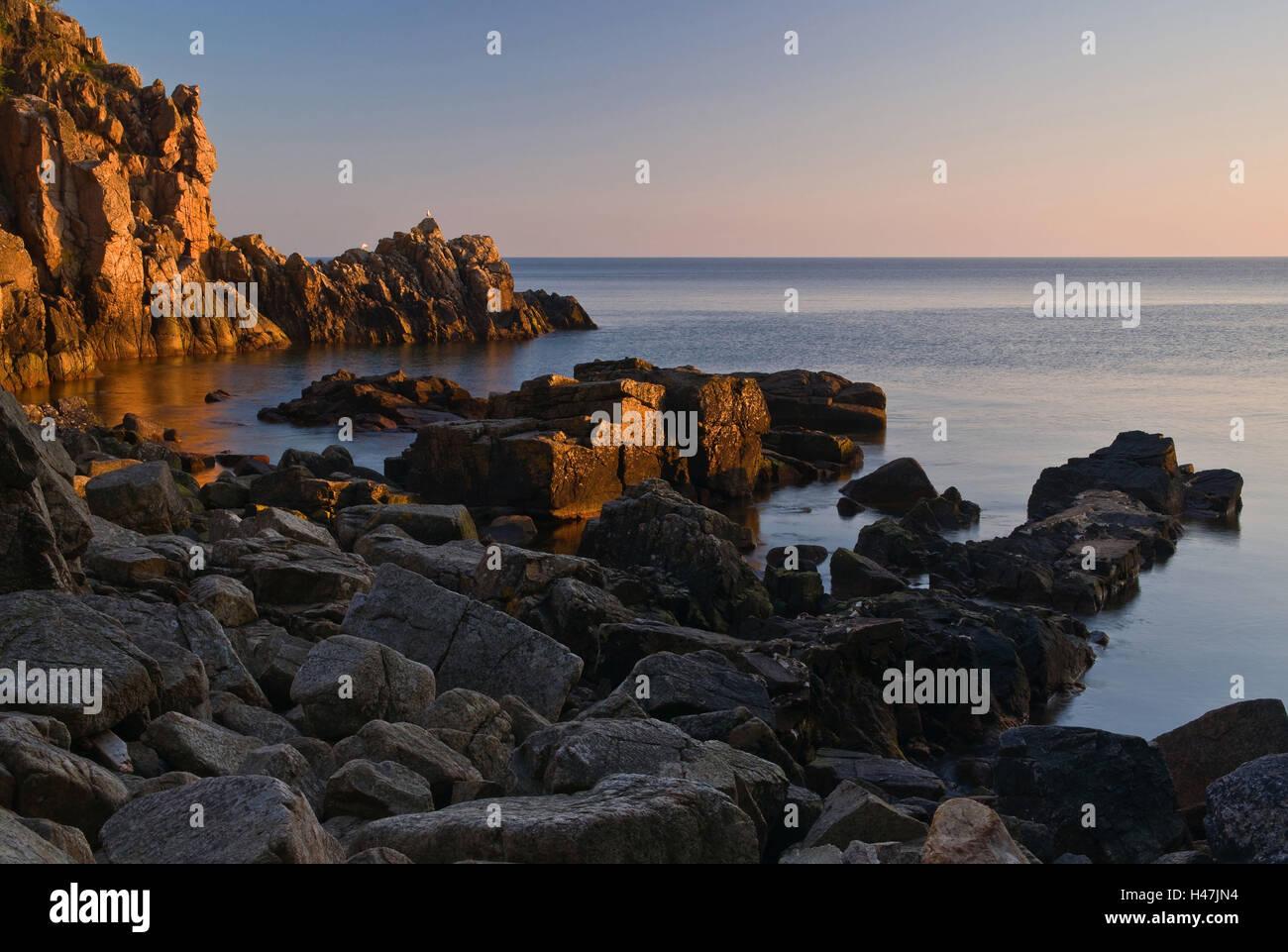 Denmark, bile coast island Bornholm, - Stock Image