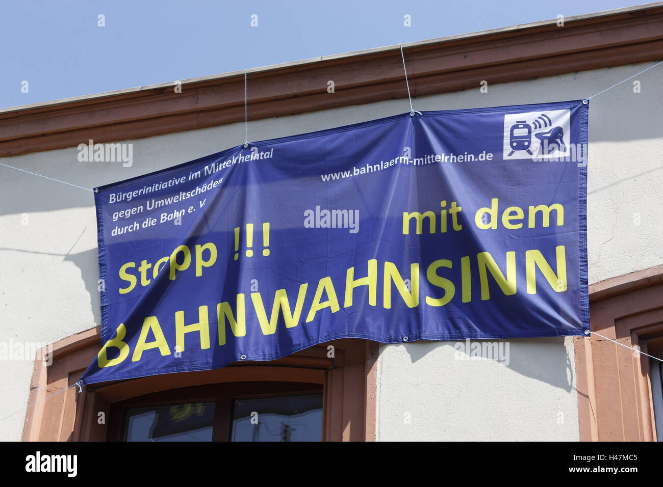 Protest banner, - Stock Image