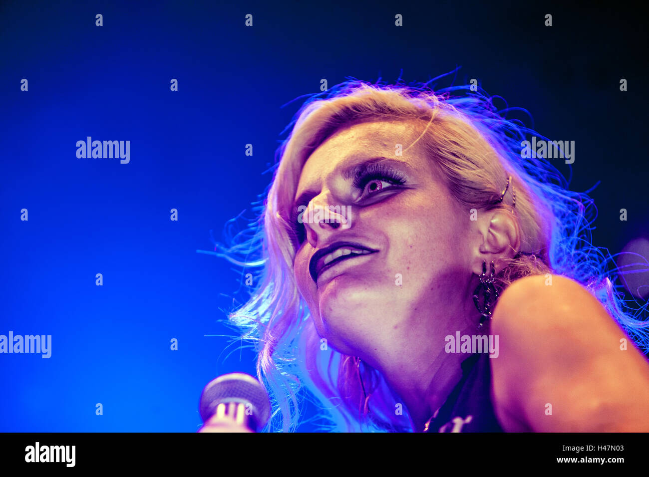 Iva Pazderková, singer of rock group Prazsky vyber, Czech Republic Stock Photo