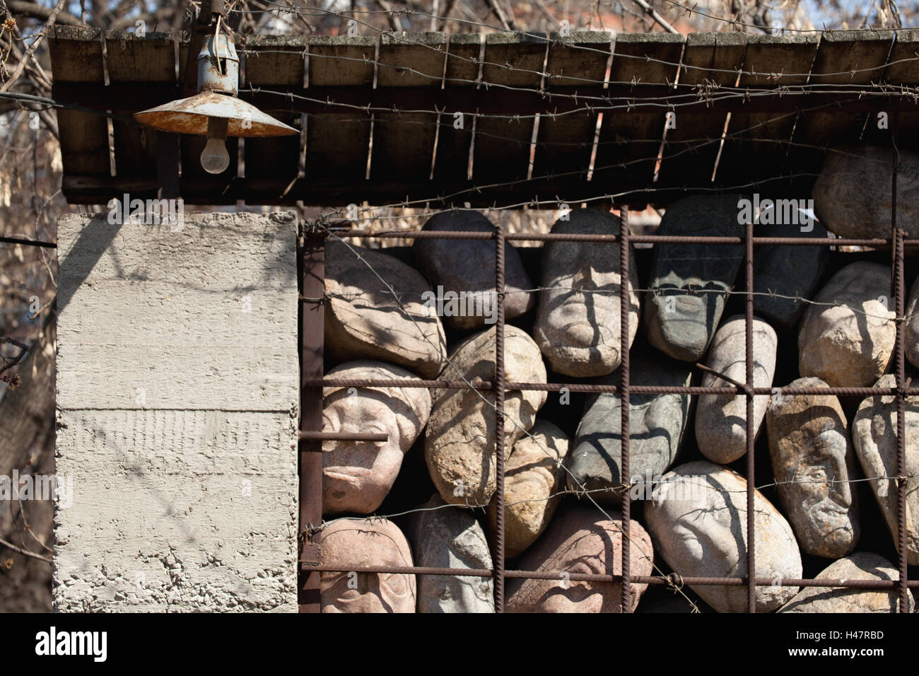 Moscow, sculpture park, memorial for the victims of the Stalinism, - Stock Image