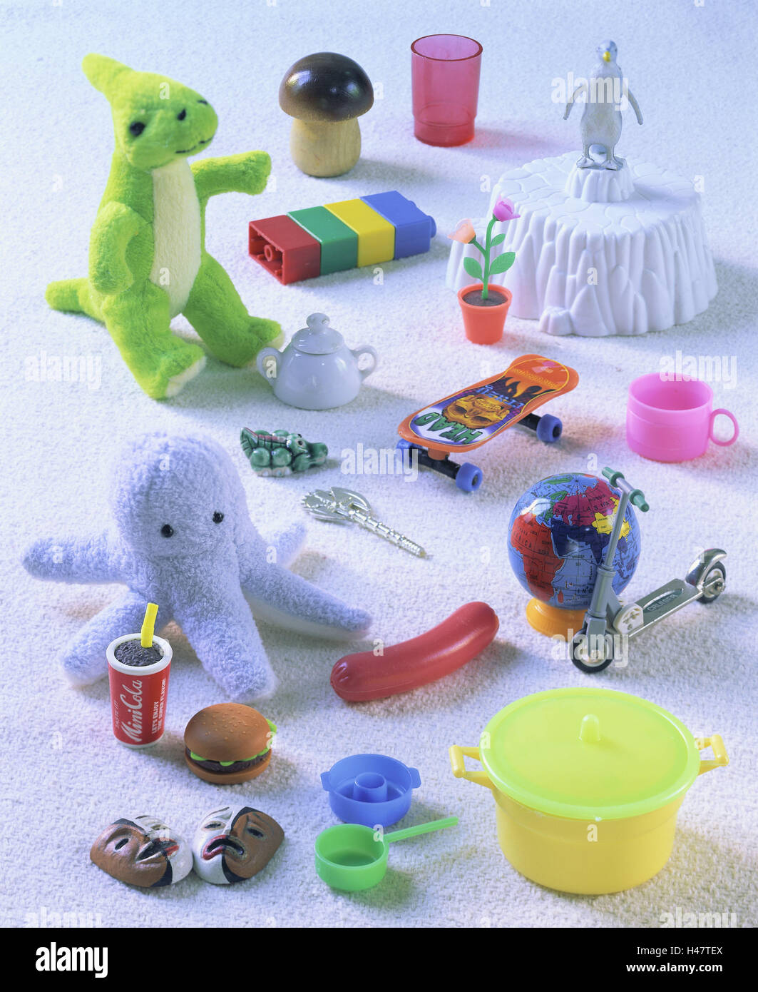 Toys, differently, game figures, figures, merged, miniatures, choice, small, game animals, game figures, objects, - Stock Image
