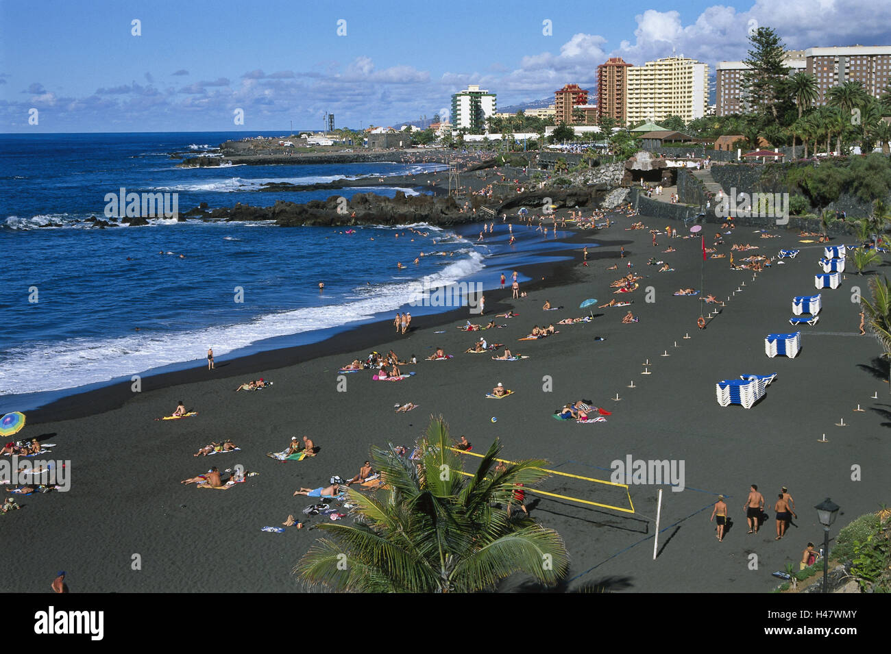Spain the canaries island tenerife puerto de la cruz playa stock photo 123105051 alamy - Playa puerto de la cruz tenerife ...