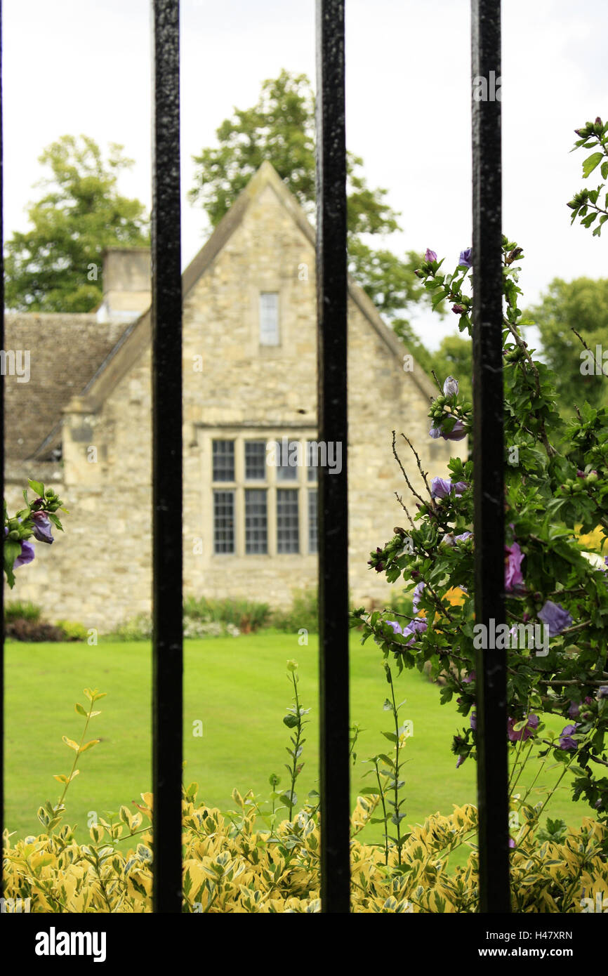 UK, Oxford, Christchurch College, garden, summer, England, university area, park, stone house, house, old, historical, - Stock Image