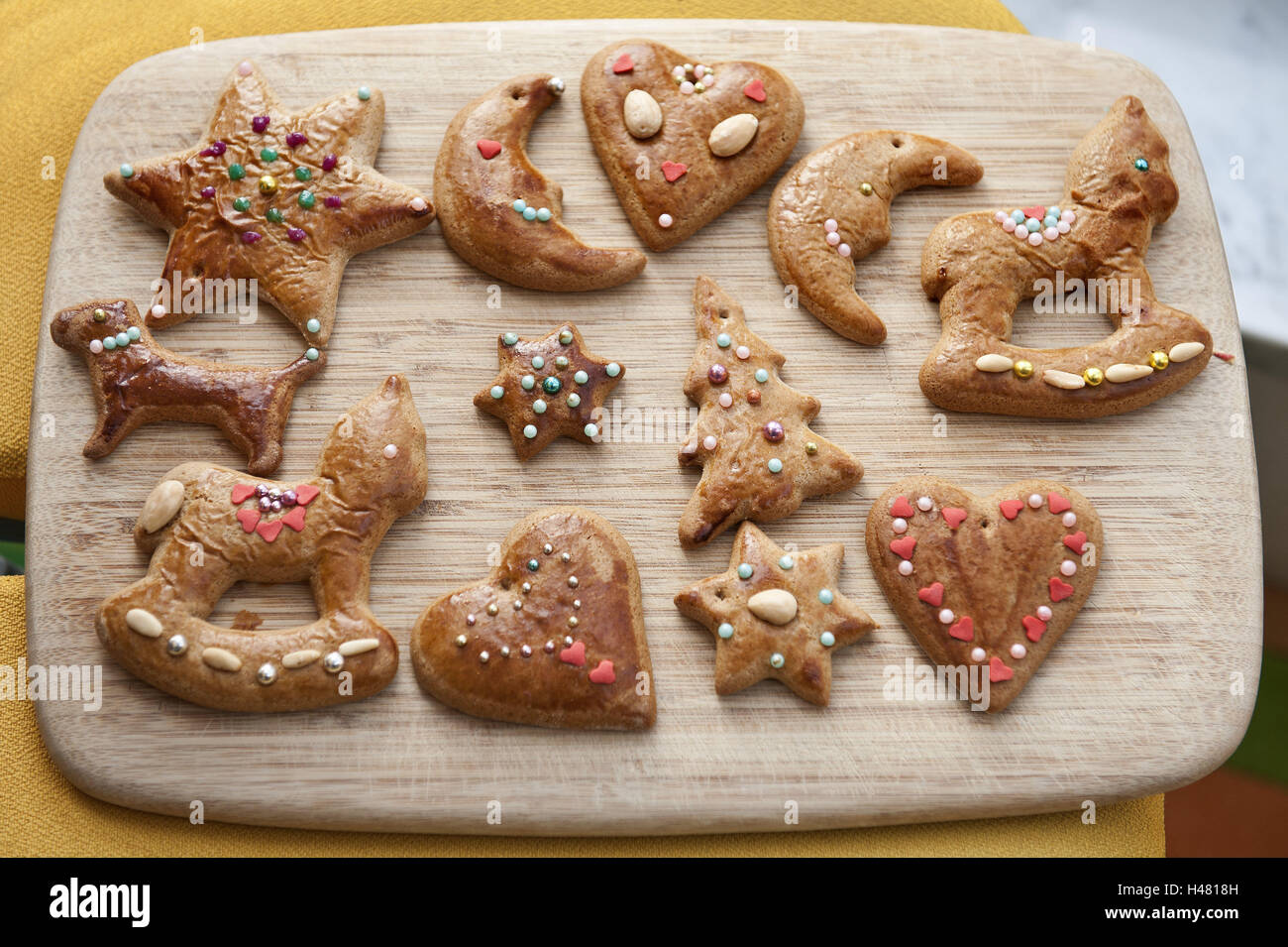 Gingerbread Decorates Motifs Passed Away Crumble Wooden Stock