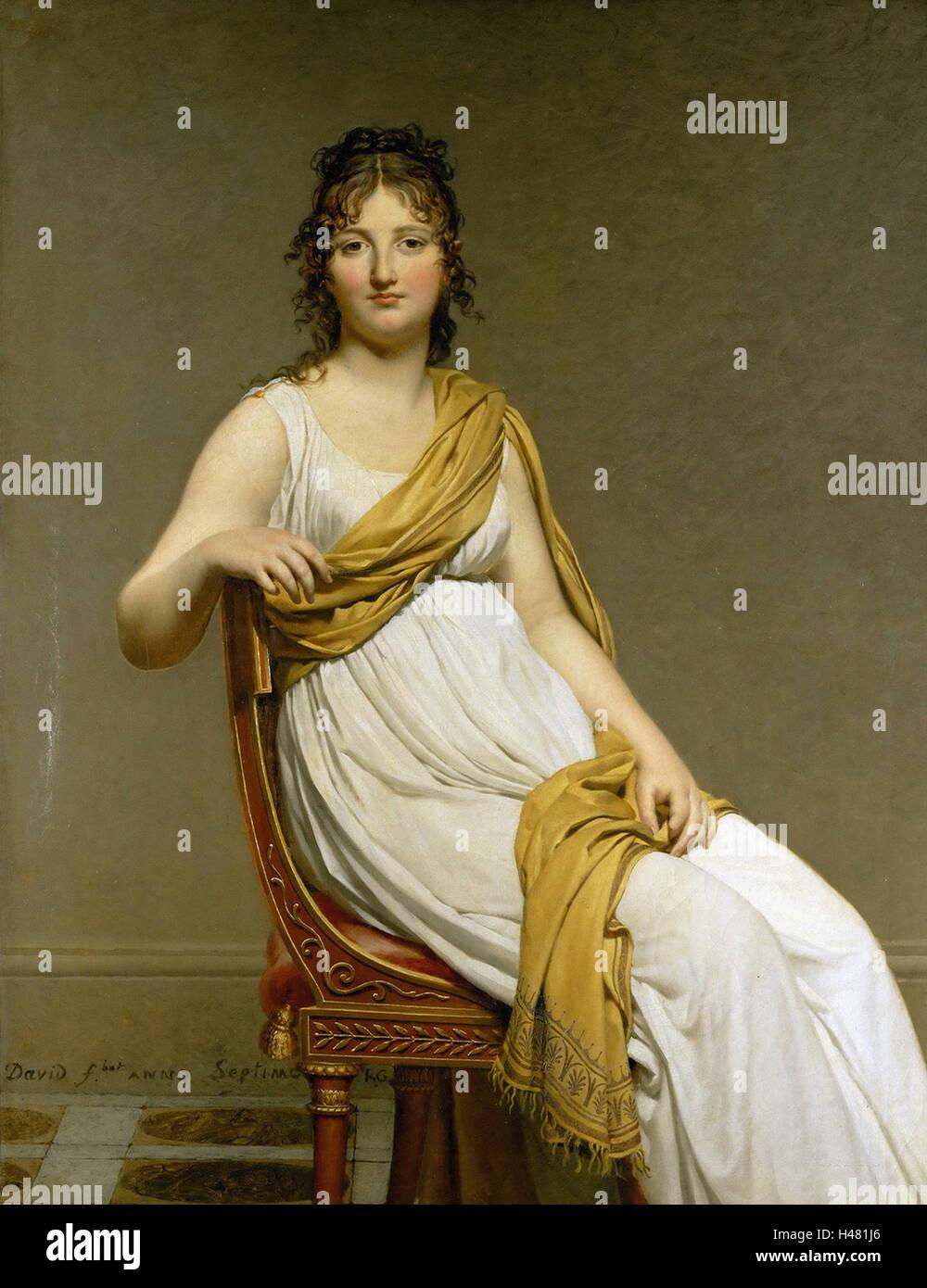 Jacques-Louis David   -  Madame Raymond de Verninac - Stock Image