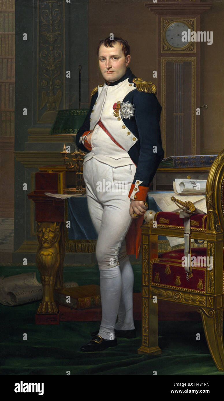 Jacques-Louis David -   Emperor Napoleon in His Study at the Tuileries - Stock Image