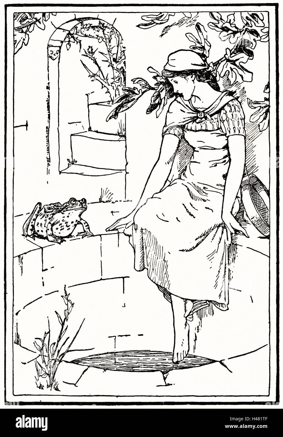 Page 227 illustration in English Fairy Tales - Stock Image