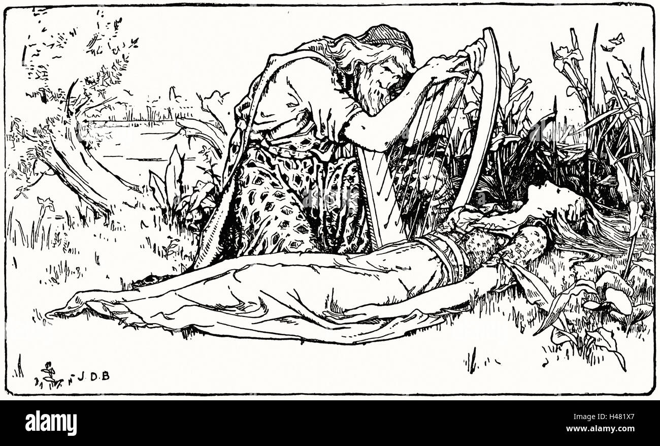 Page 45 illustration in English Fairy Tales - Stock Image
