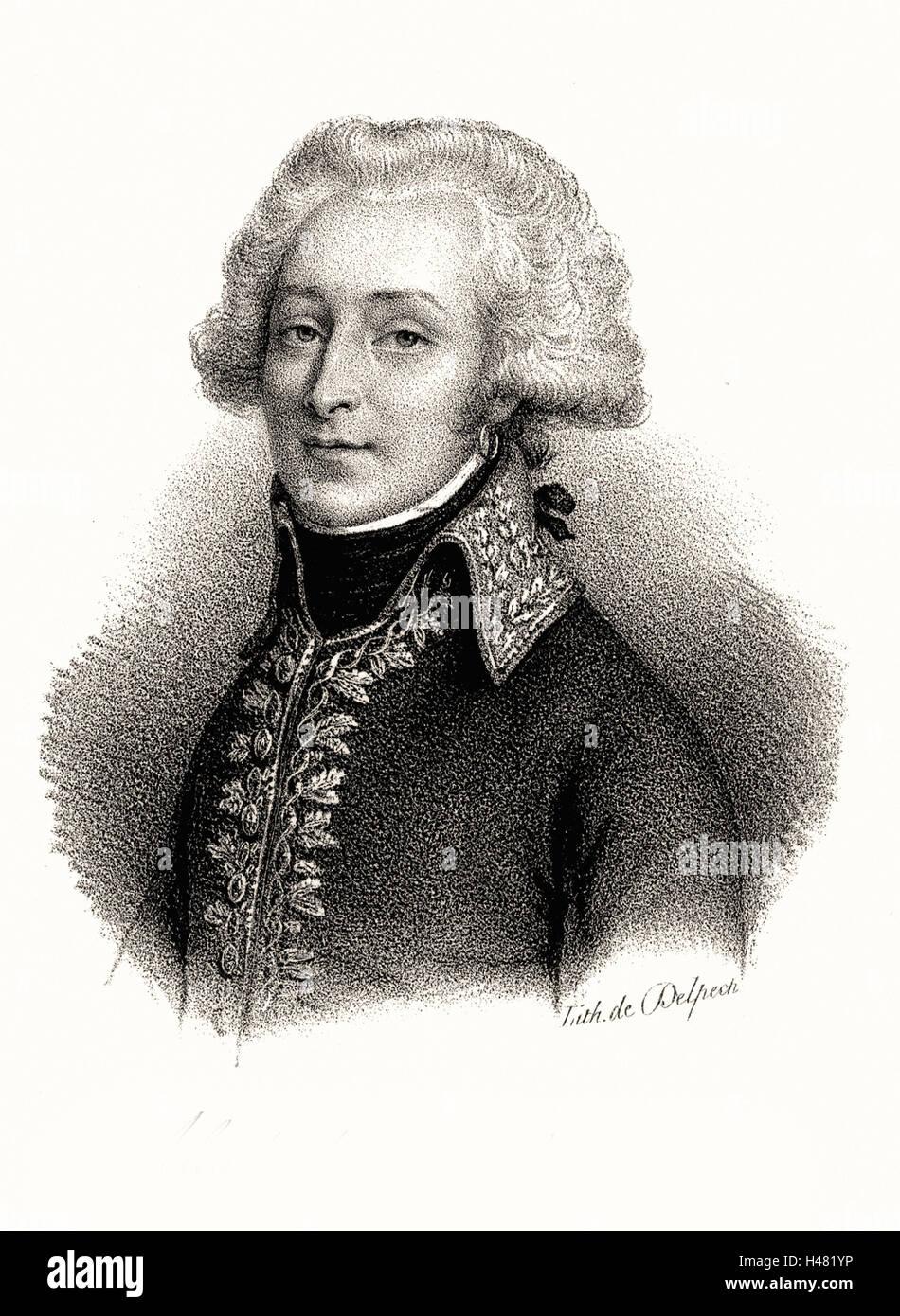 Alexandre, Vicomte de Beauharnais (1760-94) French soldier - Stock Image