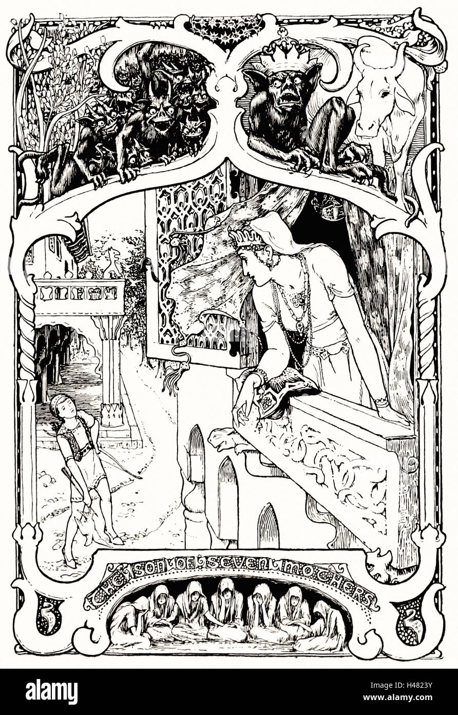 Illustration facing page 120 of Indian Fairy Tales (1892) - Stock Image
