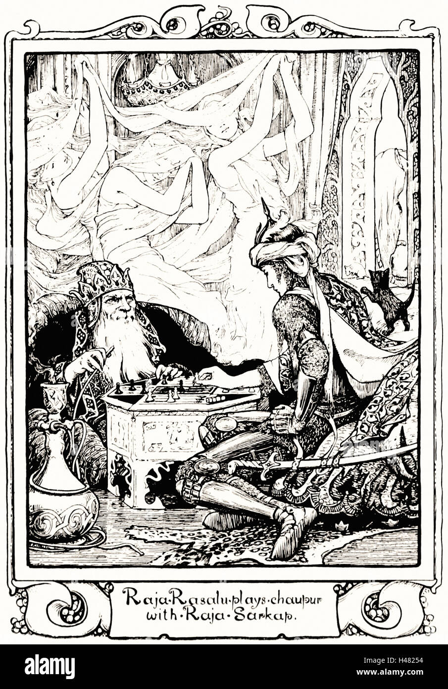 Illustration facing page 146 of Indian Fairy Tales (1892) - Stock Image