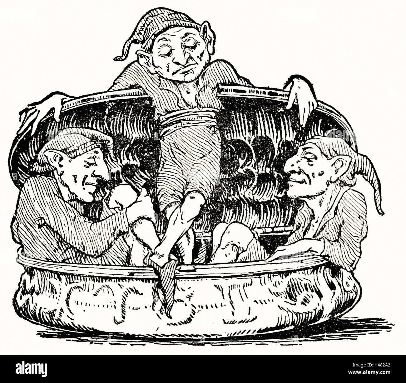Page 85 illustration in English Fairy Tales - Stock Image