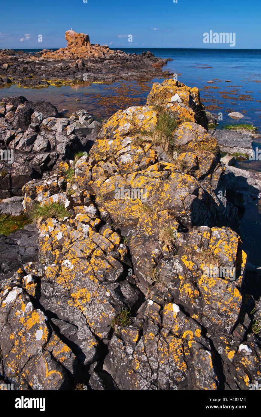 Denmark, bile coast Bornholm, - Stock Image