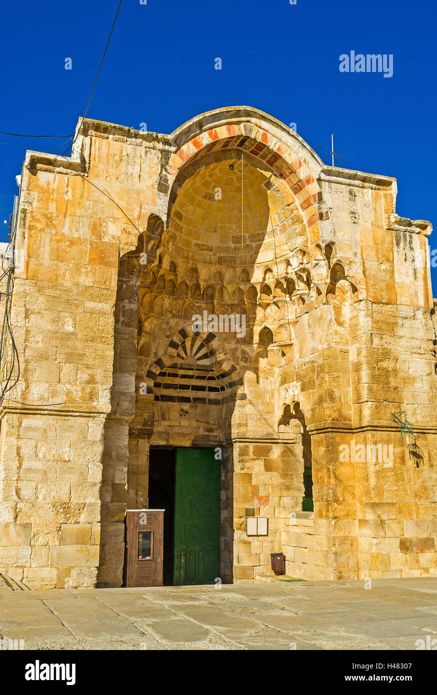 The Cotton Merchants' Gate is one of the most beautiful ways, connecting the old Jerusalem with the Temple Mount - Stock Image