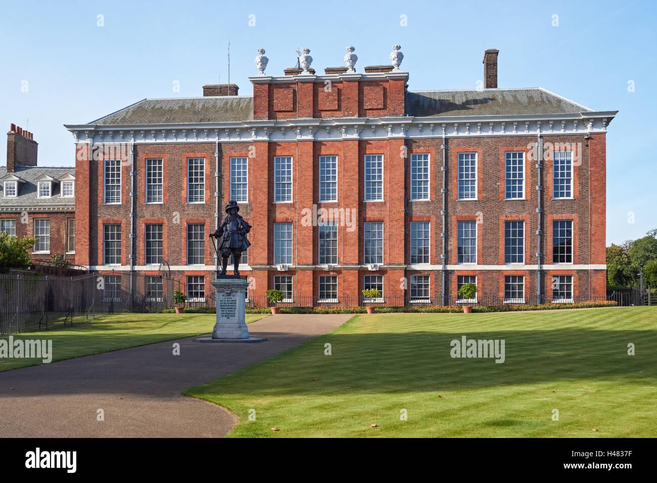 Kensington Palace in London England United Kingdom UK - Stock Image