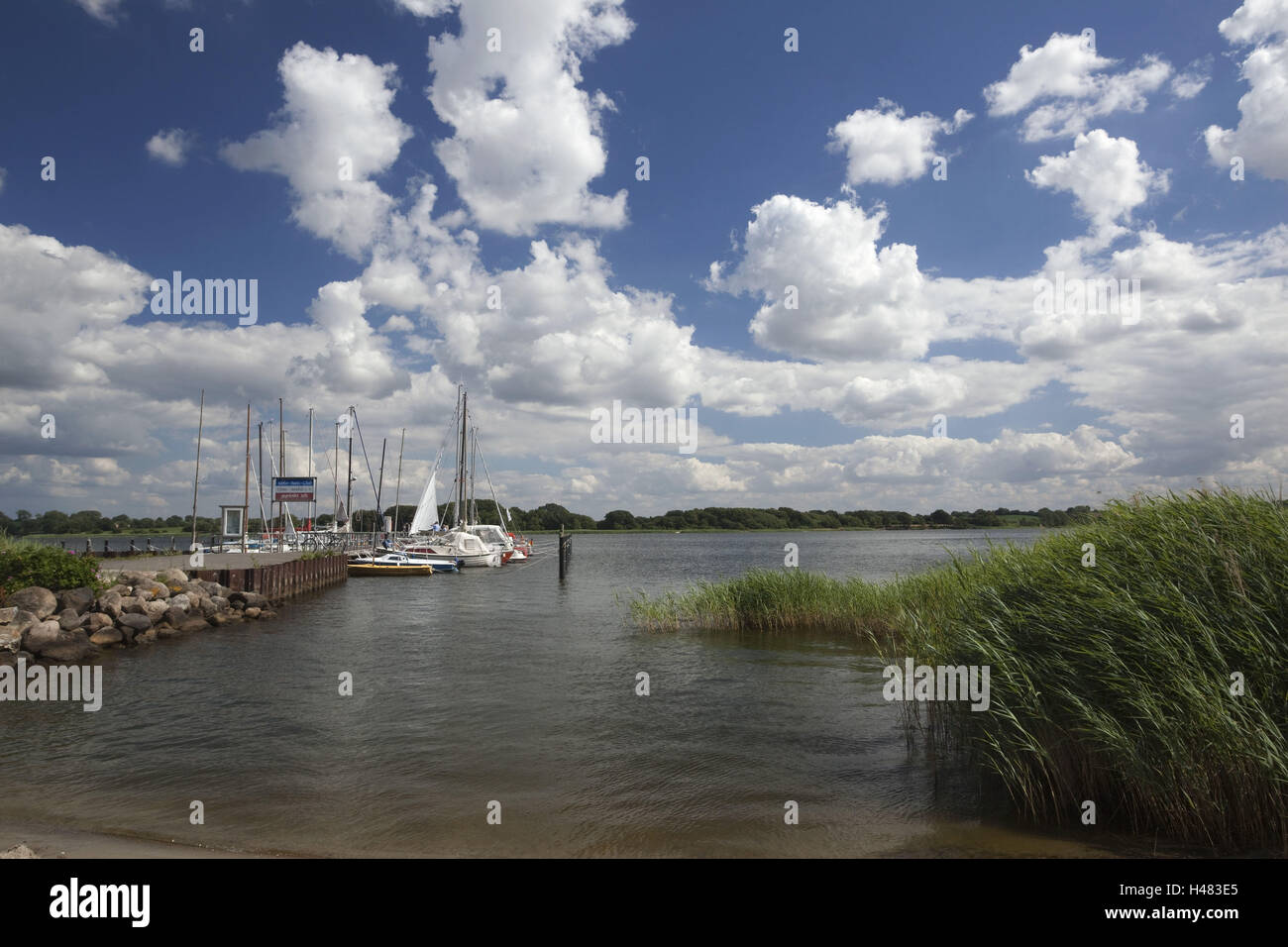 Germany, Schleswig - Holstein, region Angeln, Schlei at Ulsnis, Stock Photo