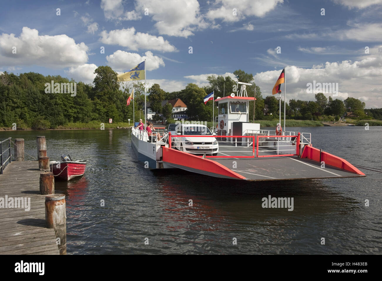 Germany, Schleswig - Holstein, region Angeln, Schlei, ferry in Missunde, - Stock Image