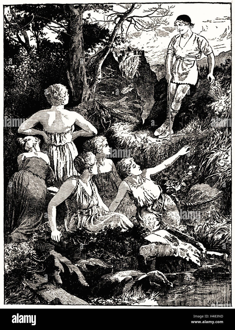 Page 40 illustration in The Red Fairy Book (1890) - Stock Image