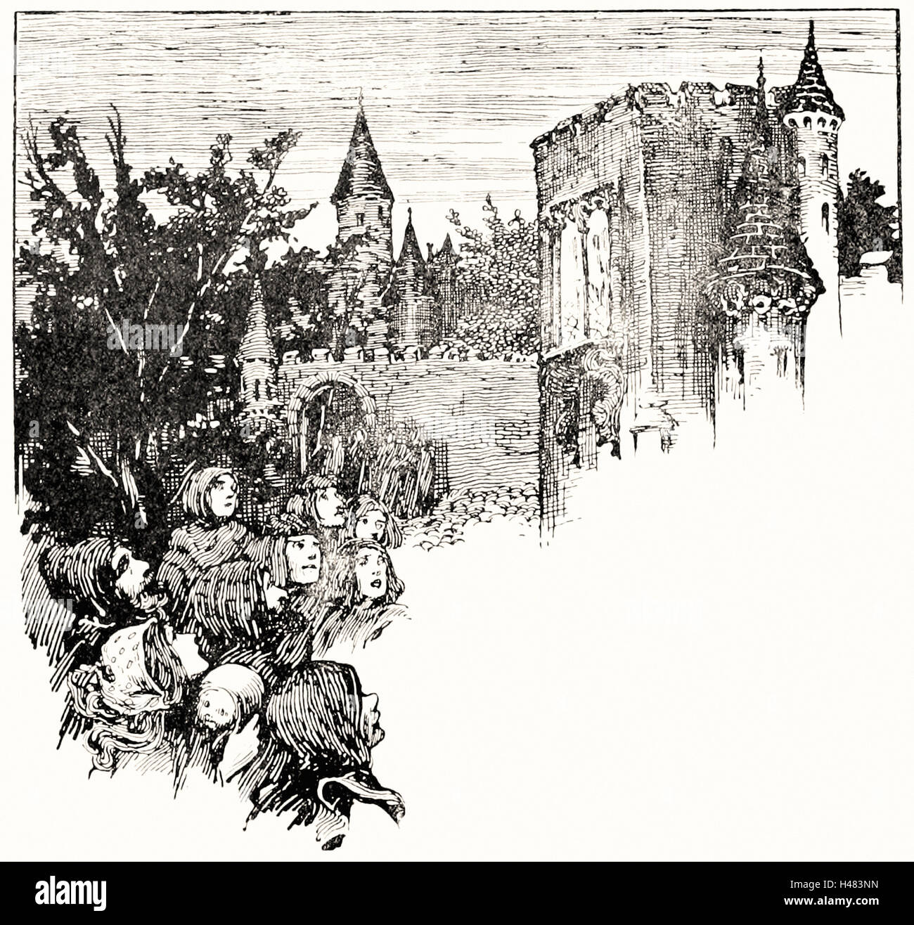 Helen Stratton - Page 44 illustration in fairy tales of Andersen - Stock Image