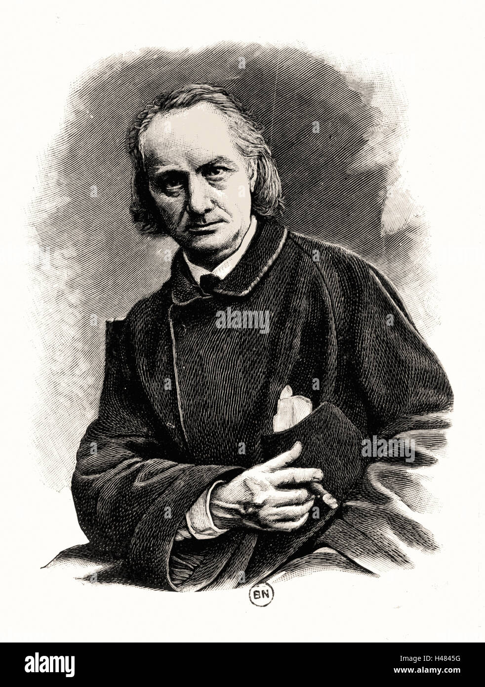 Charles Pierre Baudelaire (1821-1867) French poet, critic and translator. - Stock Image