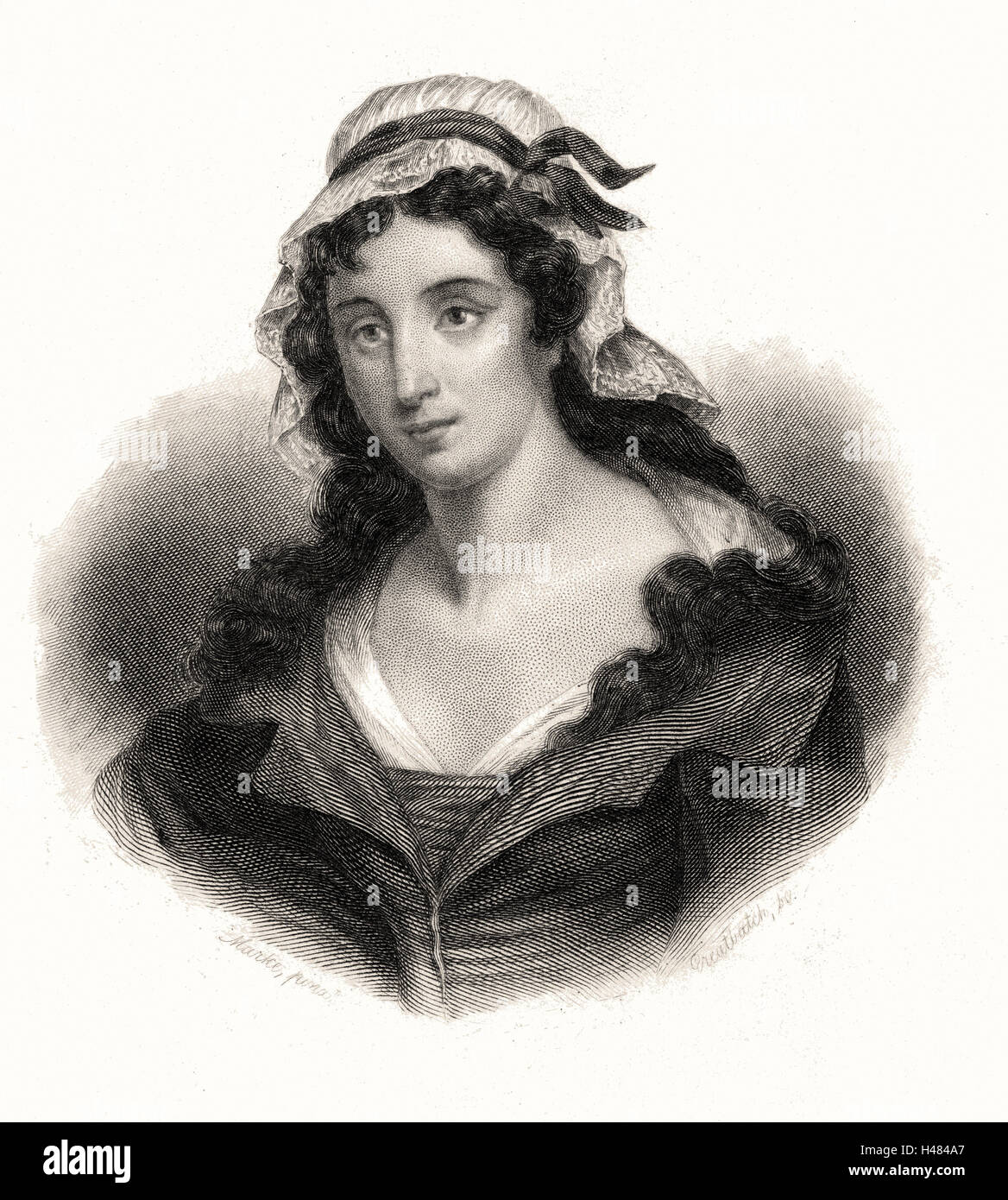 Charlotte Corday (1768-93) who murdered French revolutionary Marat in his bath - Stock Image