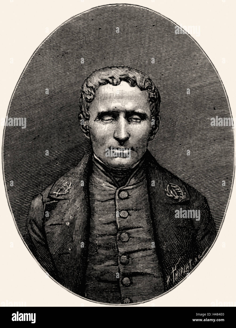 Louis Braille (1809-1852) French educationalist and inventor of a system of reading and writing for the blind - Stock Image