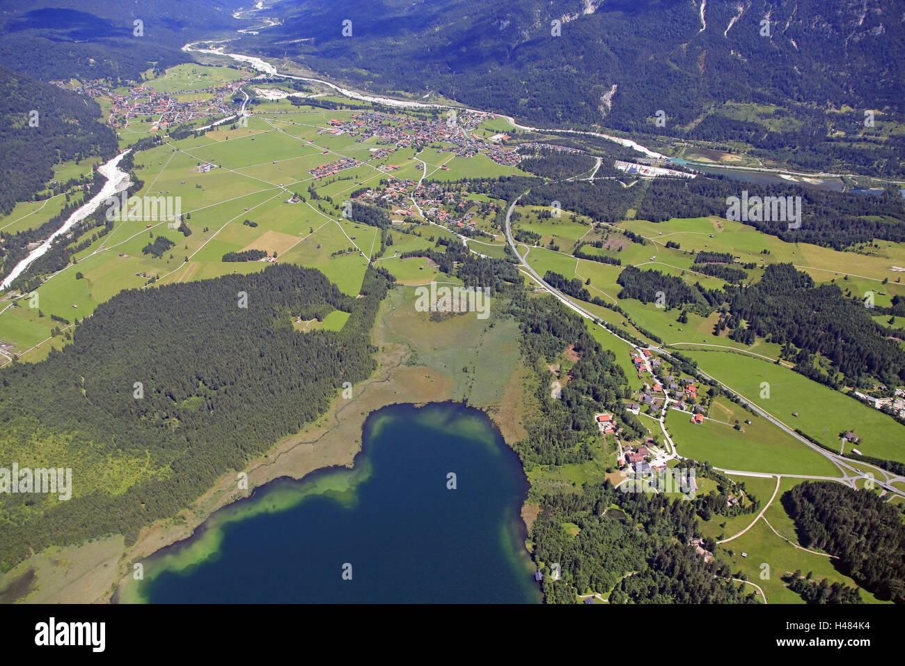 Germany, Upper Bavaria, Barmsee (lake), - Stock Image
