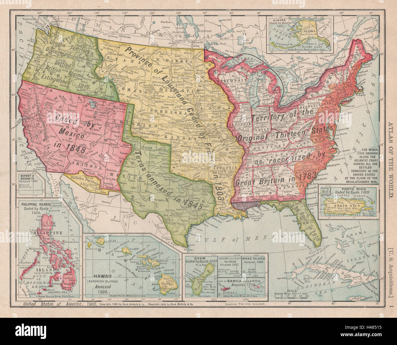 USA territorial development GadsdenLouisiana Purchase RAND