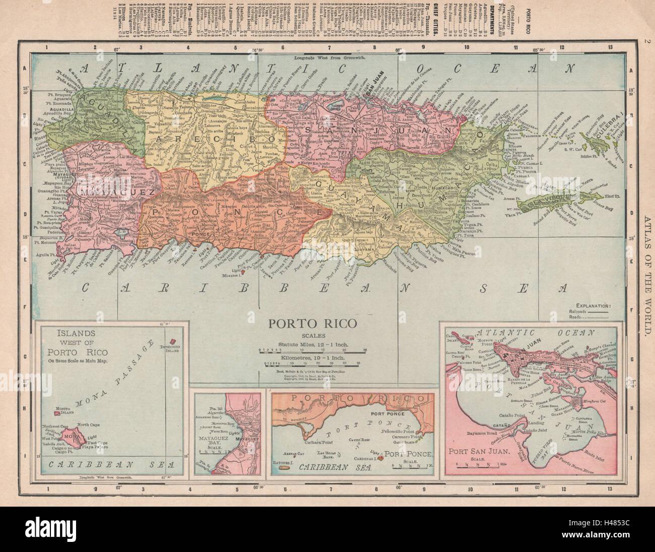 Puerto rico inset port san juan rand mcnally 1912 old antique map puerto rico inset port san juan rand mcnally 1912 old antique map plan chart gumiabroncs Images