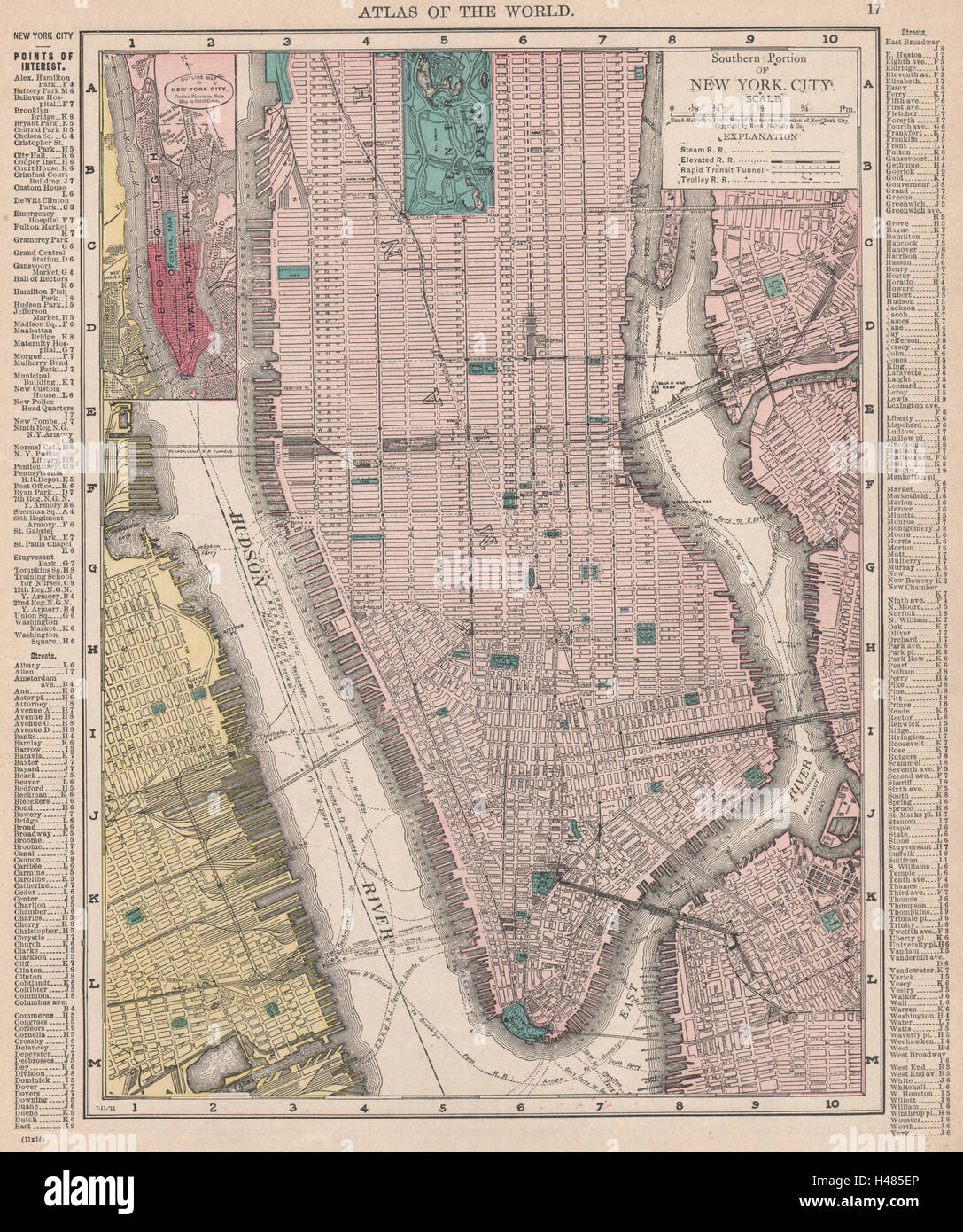 Map Of Old New York.Old New York City Map Stock Photos Old New York City Map Stock