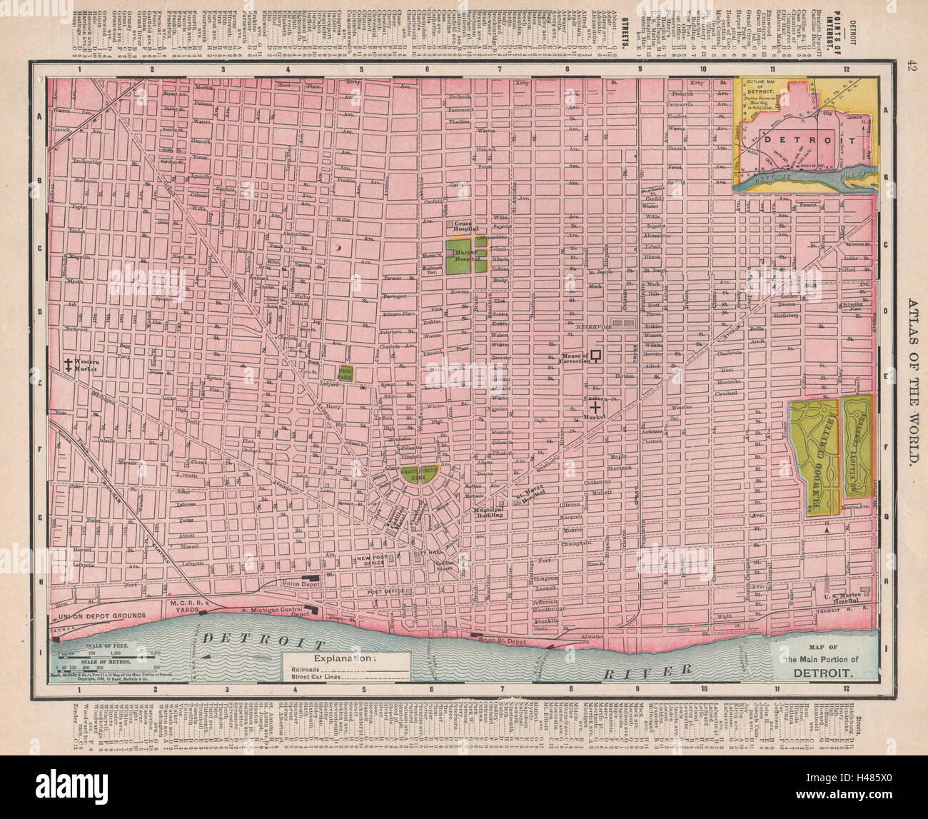 Detroit town city map plan. Michigan. RAND MCNALLY 1912 old ... on map of porter county, map of st. john, map of braddock, map of granger, map of ray, map of monon railroad, map of lawrenceburg, map of detroit, map of beverly shores, map of turkey run state park, map of dubois county, map of kalamazoo, map of kewaunee, map of new carlisle, map of ironwood, map of rossville, map of lansing, map of batesville, map of kendallville, map of indiana,