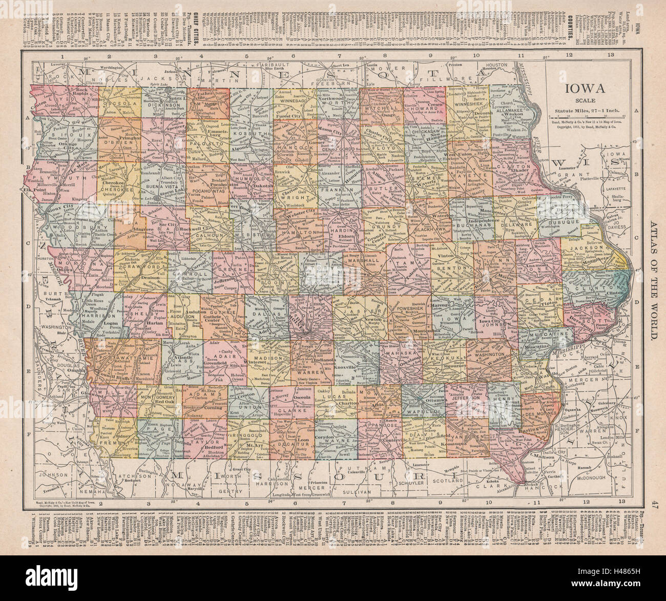 Iowa State Map Stock Photos & Iowa State Map Stock Images