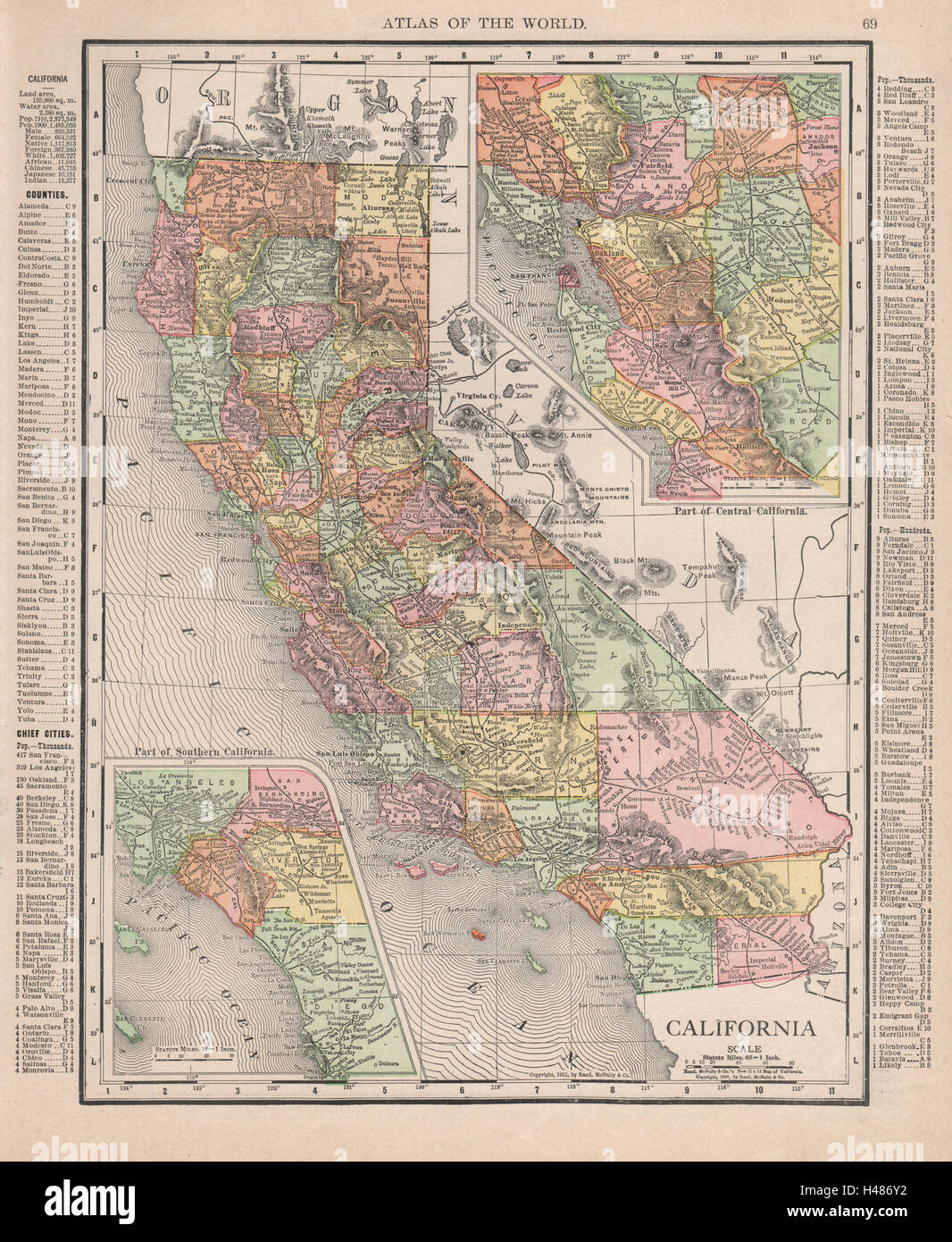 California Map Southern Ca.California State Map Southern Ca Bay Area Insets Rand Mcnally