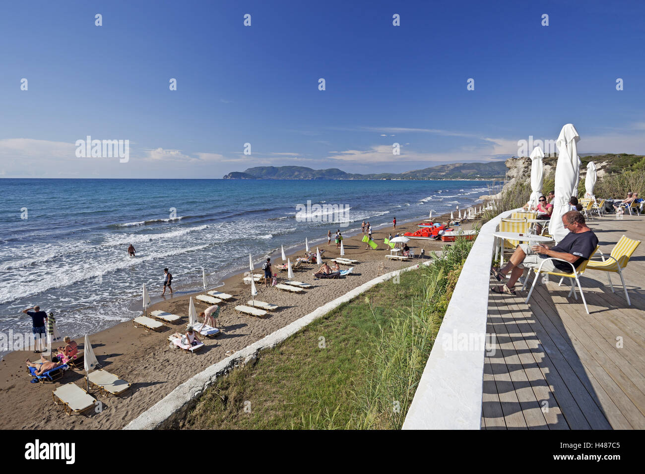 Greece, Zakynthos, Kalamaki, pool attachment, hotel Crystal Beach ...