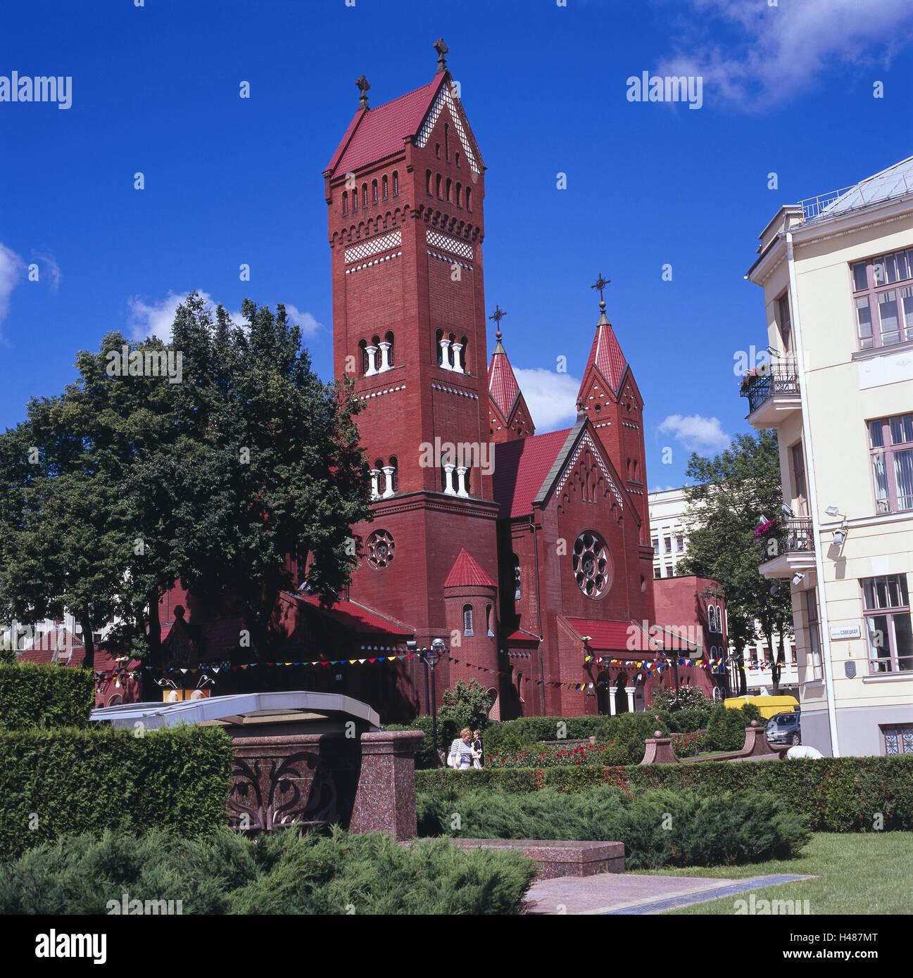 Byelorussia, Minsk, church the saint Simon and the saints Helena, - Stock Image