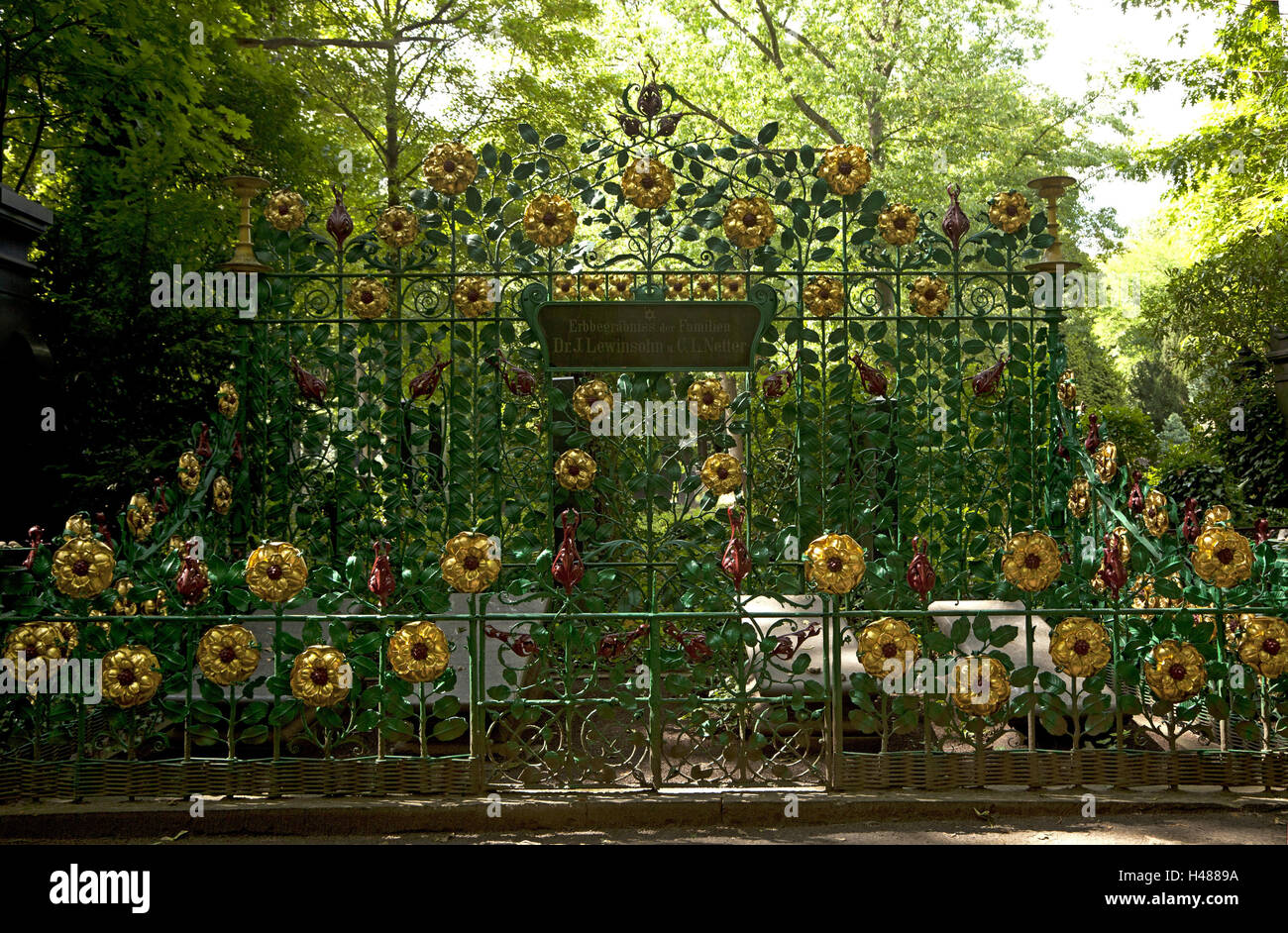 Historically, cemetery, Jugendstil, Judaism, - Stock Image