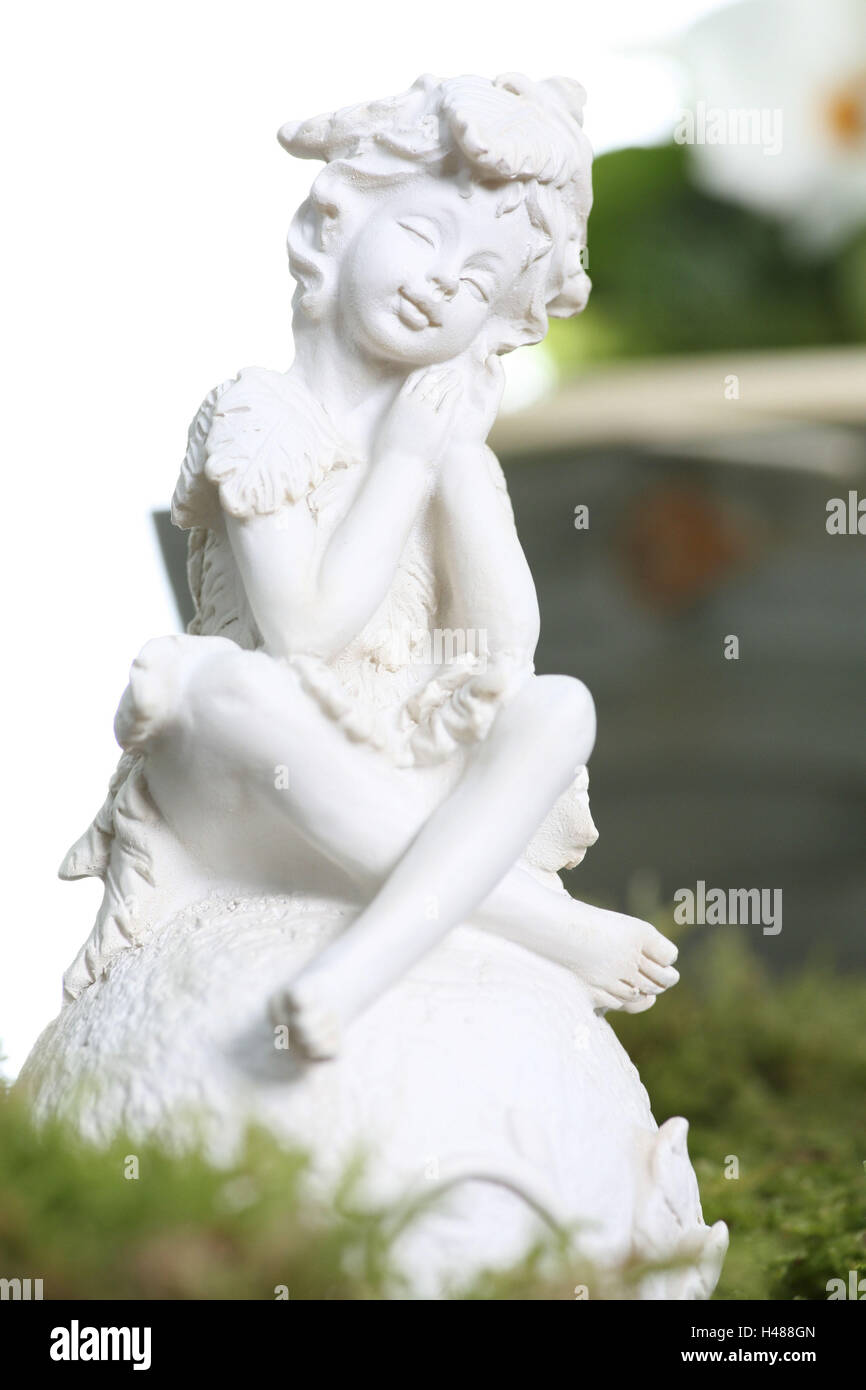 Garden figure, figure, garden, elf, Stock Photo