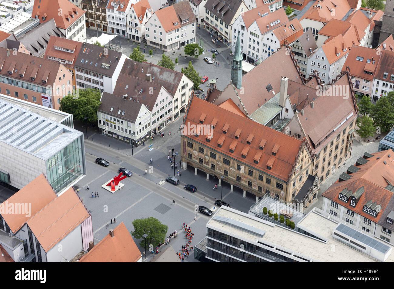 Germany, Baden-Württemberg, Ulm, view of Ulm Minster, Stock Photo