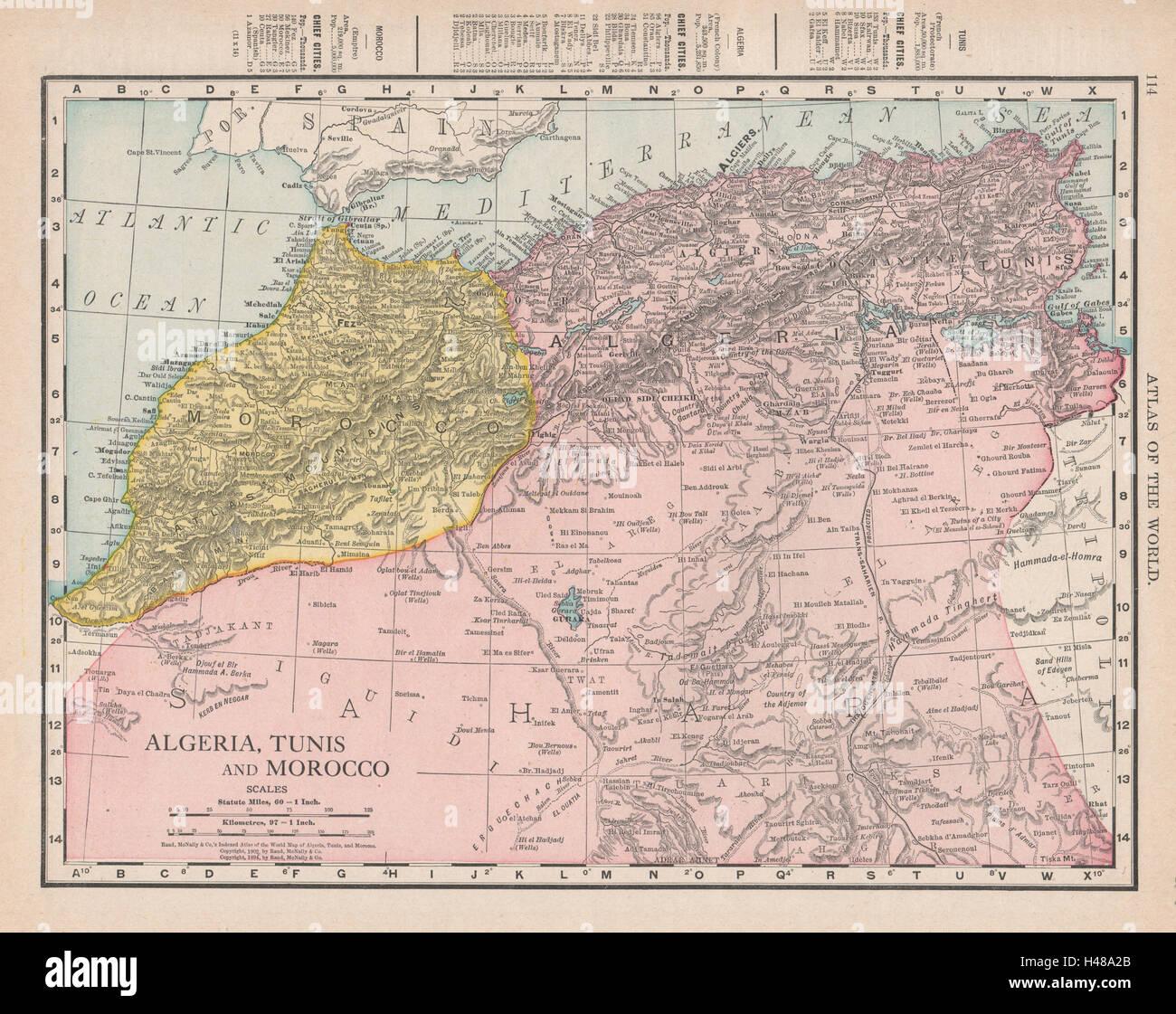 Map Of Africa Sahara Desert.Algeria Tunisia Morocco Sahara Desert North Africa Rand