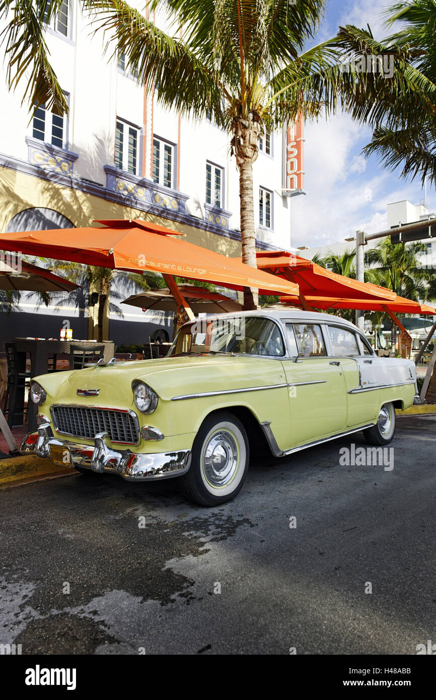 Chevrolet Bel Air, year of manufacture 1957, the fifties, American ...