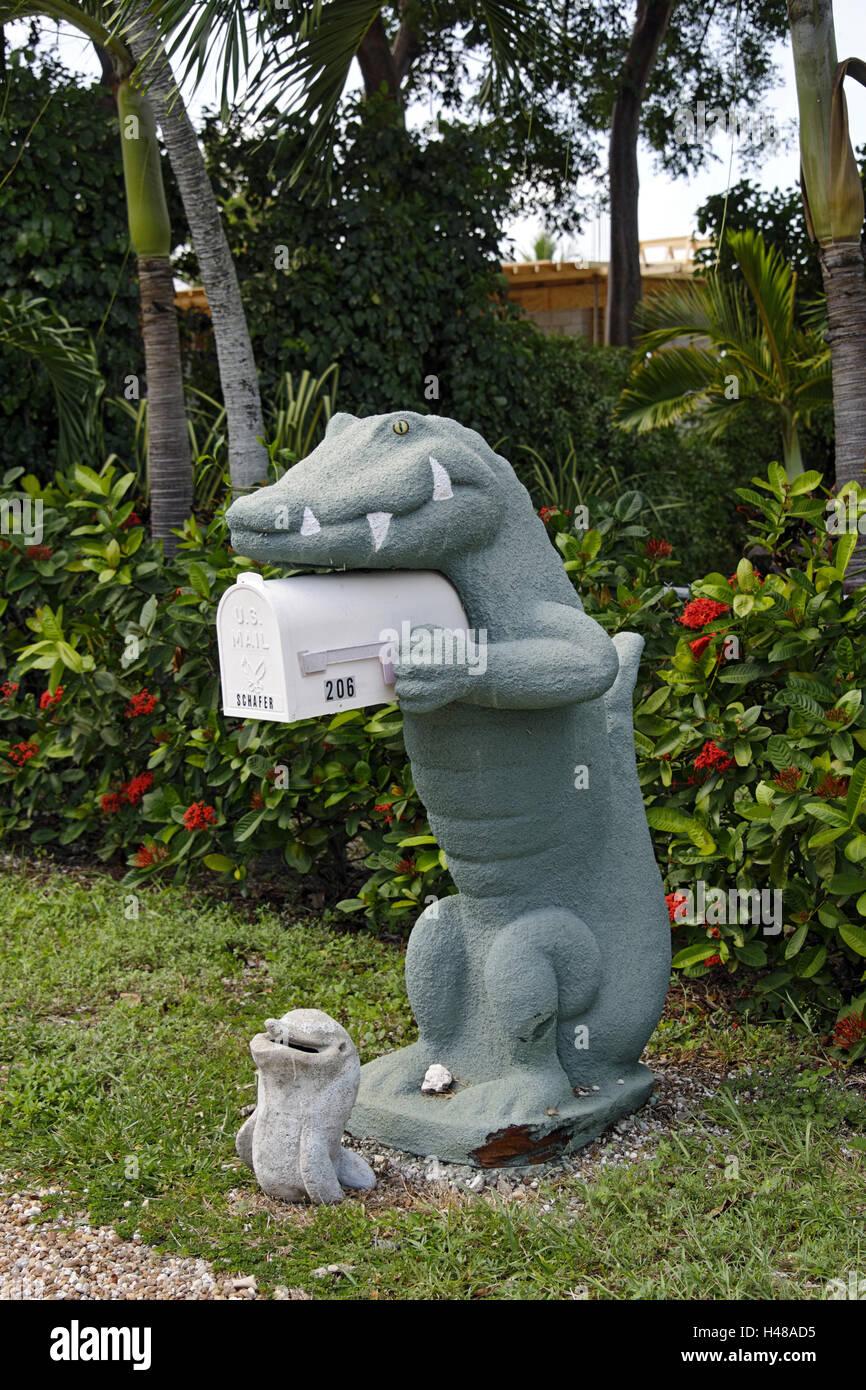 fanciful mailbox, Key Largo, Florida Keys, Florida, USA, - Stock Image