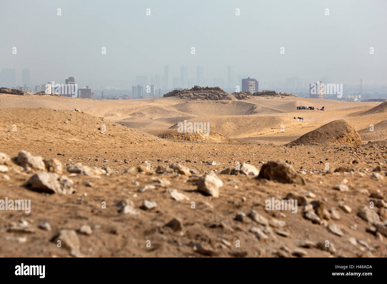 Egypt, Cairo, view from Giza, - Stock Image