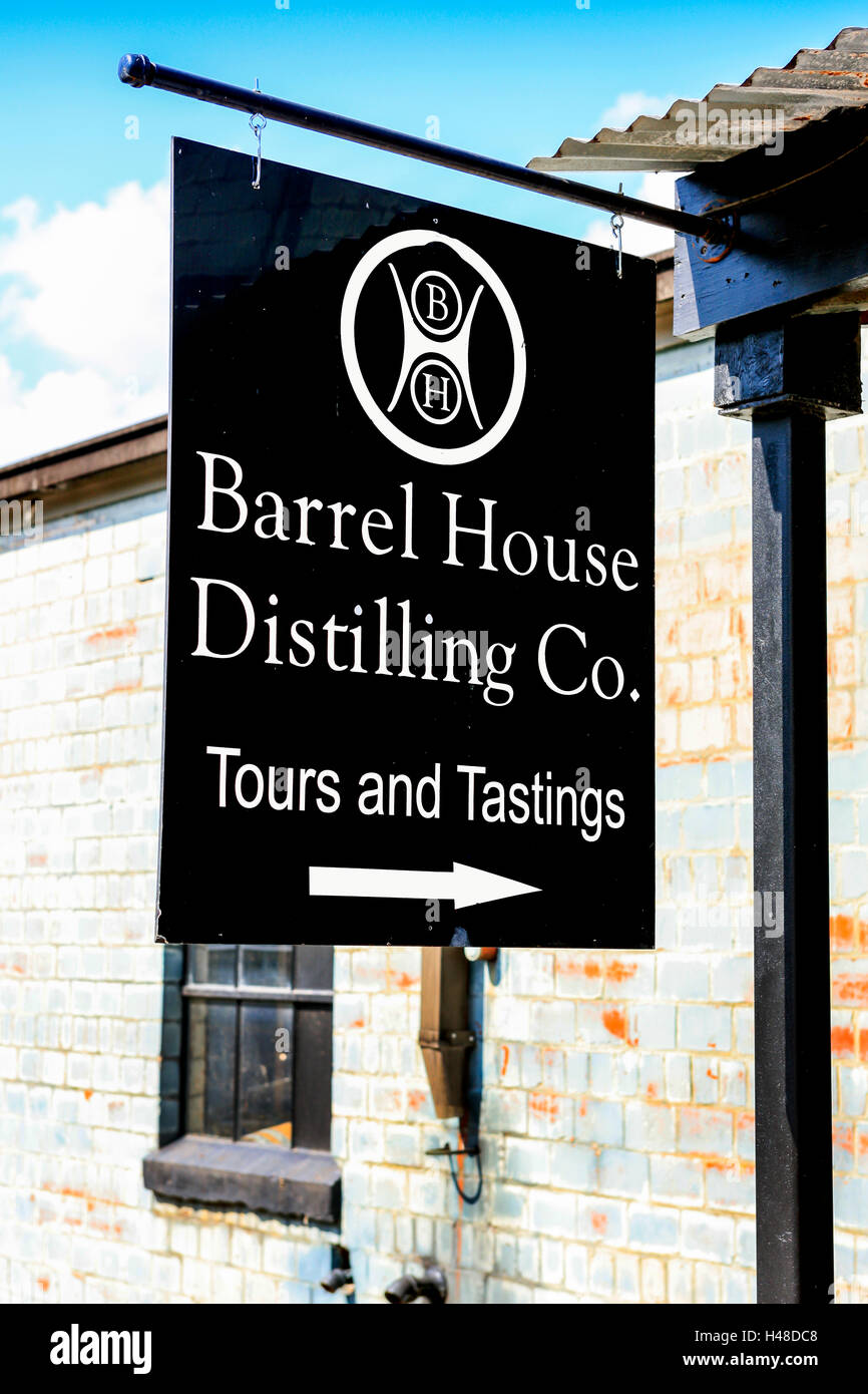 The Barrel House Distilling co on the Kentucky Bourbon Trail, Manchester St in the Distillery District of Lexington, Stock Photo