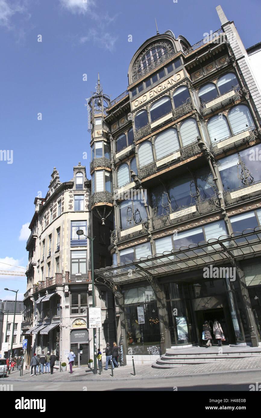 Belgium, Brussels, Rue-Montagne-de-la-Cour, Musee the instrument de Musique, - Stock Image