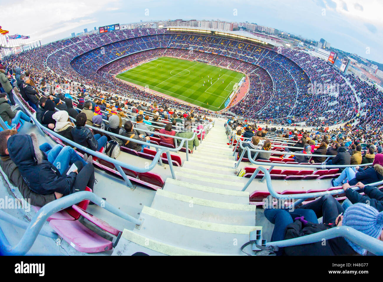 BARCELONA - FEB 21: A general view of the Camp Nou Stadium. - Stock Image