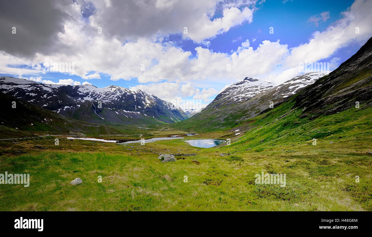 Tarns on the Troll Road - Stock Image