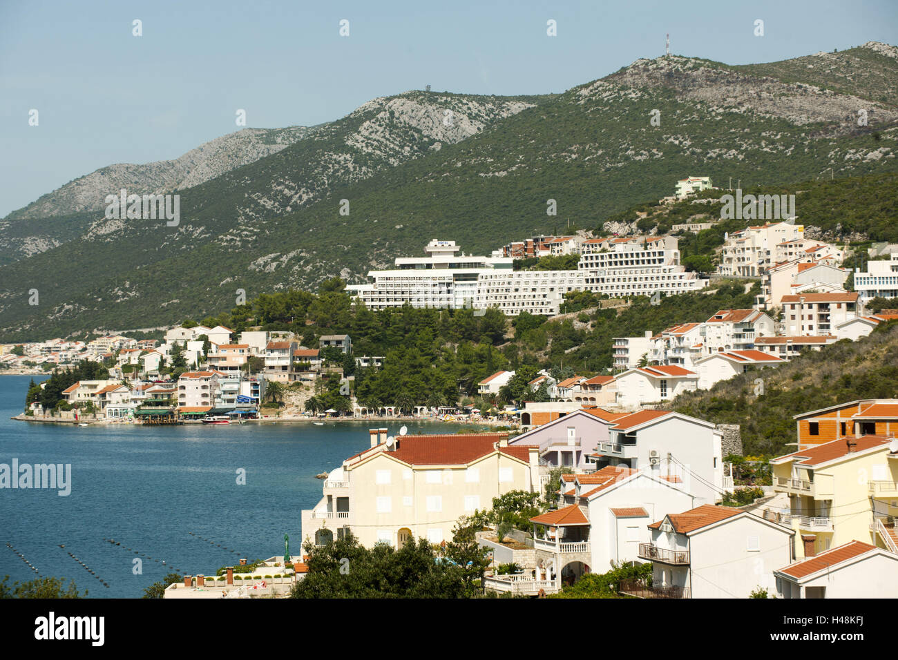 Bosnia-Herzegovina, Dalmatia, Neum, it forms the only access the country to the sea, - Stock Image
